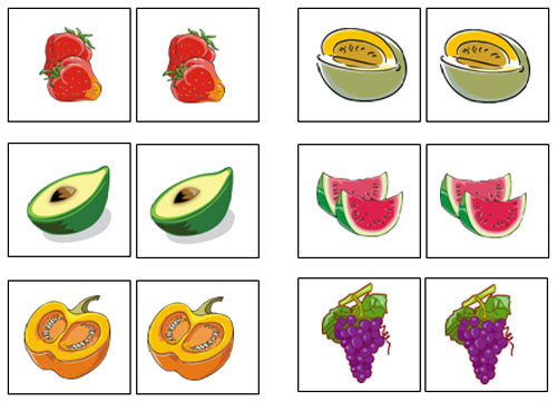 Fruit Match-Up & Memory Game - Montessori Print Shop