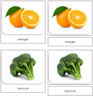 Fruits and Vegetables - Safari Toob Cards