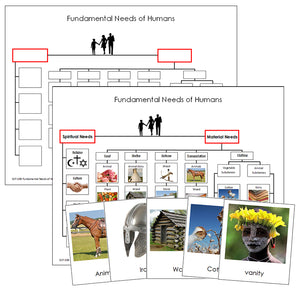 Fundamental Needs of Humans - Montessori learning materials