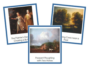 Thomas Gainsborough Art Cards (borders) - montessori art materials