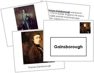 Thomas Gainsborough Art Book - montessori art materials