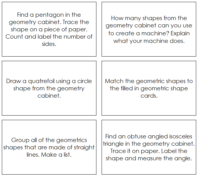 Geometric Shapes - Command Cards