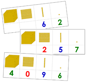 Golden Bead Task Cards - primary Montessori math cards