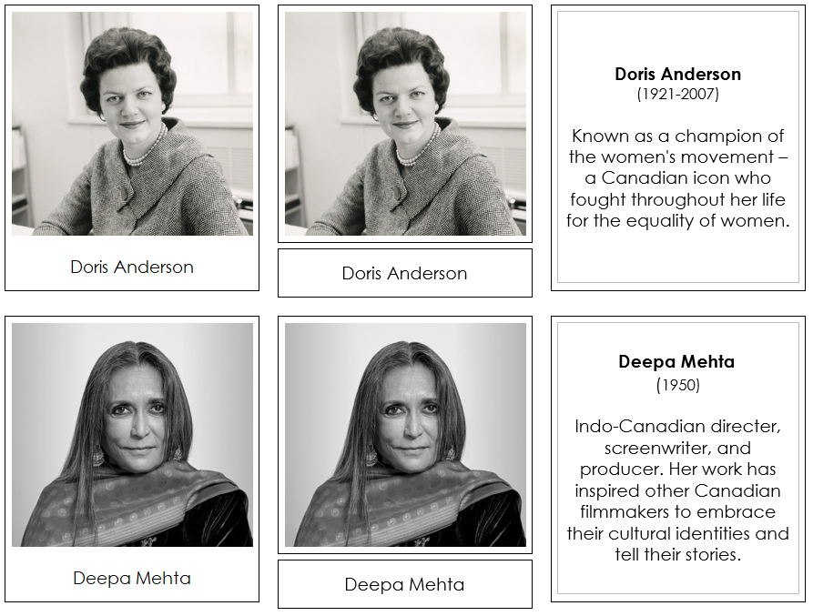 Great Women of Canada - Montessori Print Shop