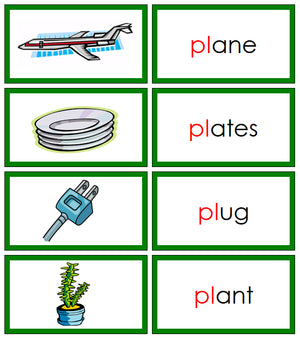 Green Blends & Digraphs Set 1 - Montessori Print Shop Green Series Language