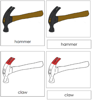Hammer Nomenclature Cards - Montessori
