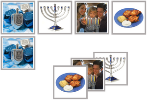 Hanukkah matching cards - Montessori Print Shop