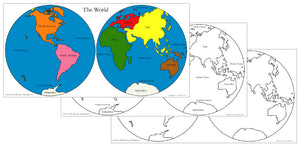 World Hemispheres Maps & Masters - Montessori Print Shop