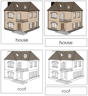 House Nomenclature 3-Part Cards - Montessori Print Shop