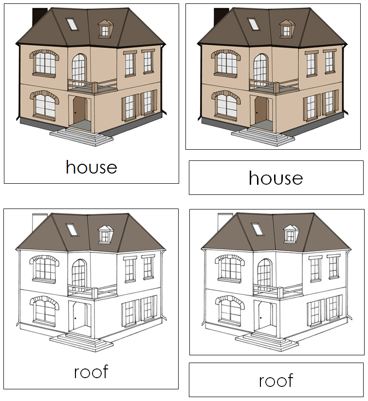 House Nomenclature Cards - Montessori Print Shop
