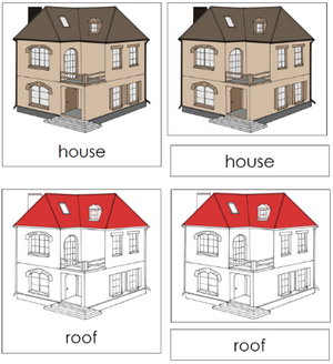 House Nomenclature Cards - Montessori