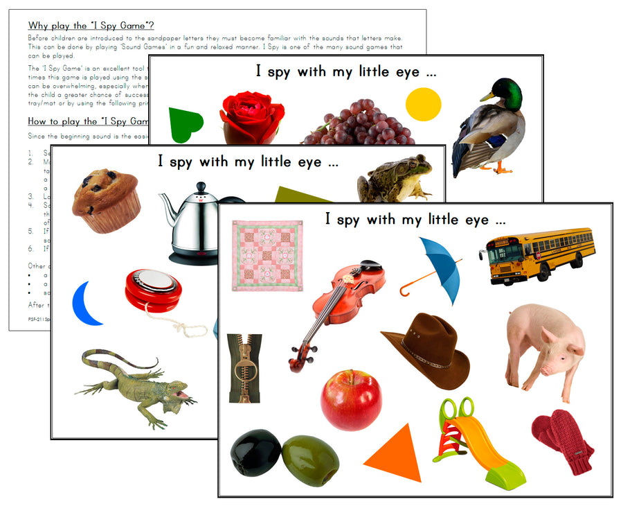 I Spy Game - phonetic sounds - Montessori Print Shop