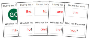 I Have, Who Has? (Sight Words) - Montessori Print Shop