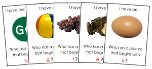 I Have, Who Has? Beginning Sounds - Montessori Print Shop