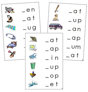 Step 1: Initial Sound Cards - Montessori language cards - Montessori Print Shop