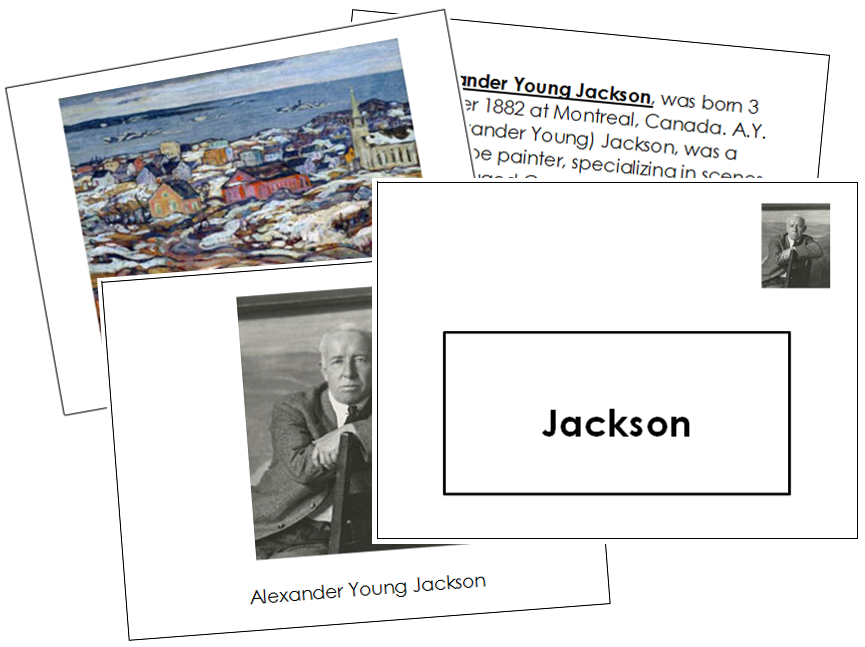 Alexander Young Jackson Art Book - montessori art materials