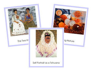 Frida Kahlo Art Cards (borders) - montessori art materials