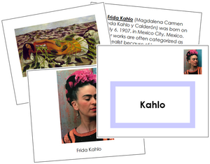 Frida Kahlo Art Book - montessori art materials