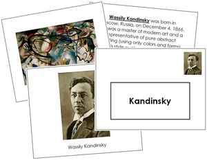 Wassily Kandinsky Art Book - montessori art materials