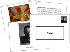 Paul Klee Art Book - montessori art materials