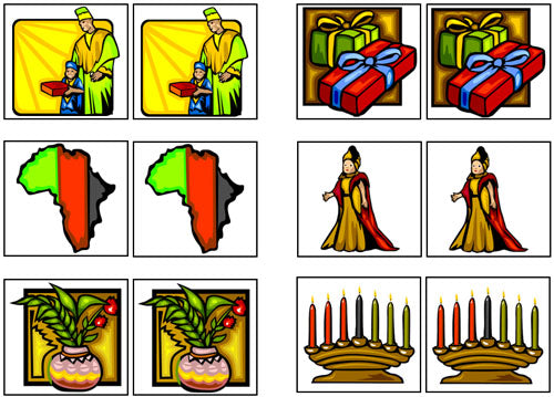 Kwanzaa Match-Up & Memory Game - Montessori Print Shop