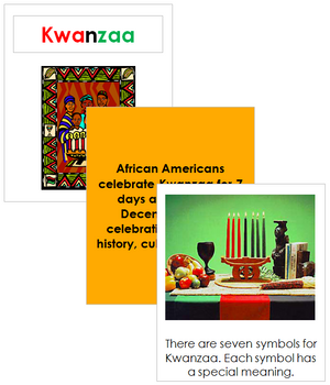 Kwanzaa Celebration Cards - Montessori Print Shop