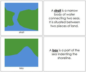 Land & Water Form Book - Montessori geography materials