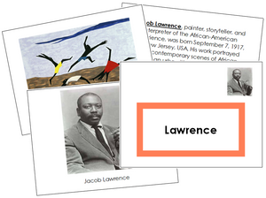 Jacob Lawrence Art Book (border) - Montessori Print Shop