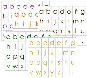 Alphabet Letters (print) Set 2 - Montessori Moveable Alphabet