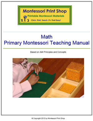 Primary Montessori Math Teaching Manual