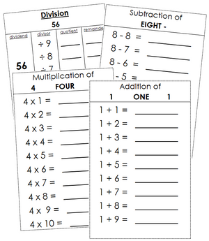 Montessori Math Booklets - Sequential Order
