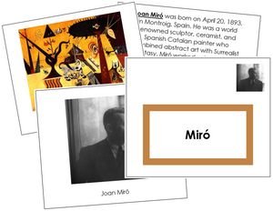 Joan Miro Art Book - montessori art materials