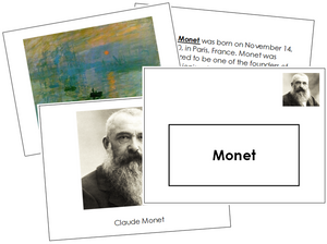 Claude Monet Art Book - montessori art materials