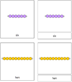 Montessori Bead Nomenclature Cards
