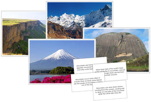 Mountain Pictures & Fast Facts - Montessori Print Shop