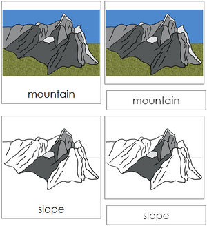 Mountain Nomenclature 3-Part Cards - Montessori Print Shop