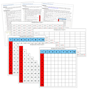 Montessori Multiplication Charts & Instructions - Montessori Print Shop