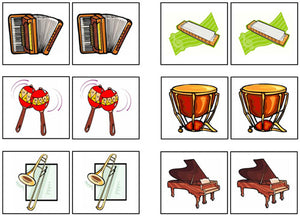 Musical Instruments Match-Up & Memory Game - Montessori Print Shop