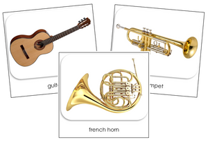 Musical Instruments Safari Toob Cards - Montessori Print Shop