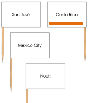 North American Capital Cities Pin Flags - Montessori geography materials