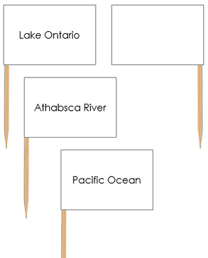 North American Waterways: Pin Flags - Montessori geography materials
