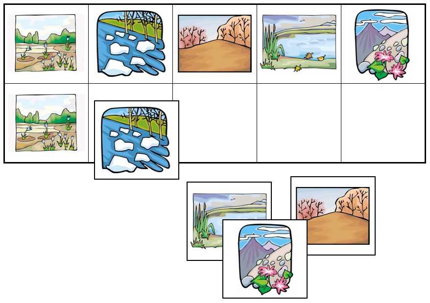 Nature Match-Up & Memory Game - Montessori Print Shop