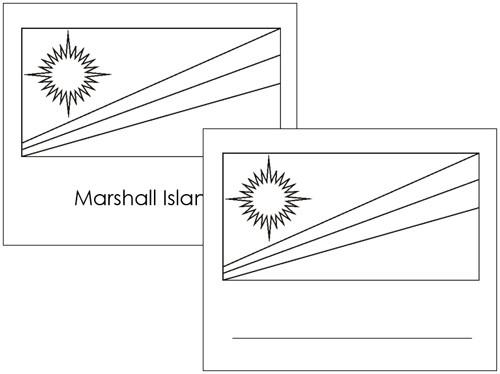 Oceanian Flags: Outlines - Montessori geography materials