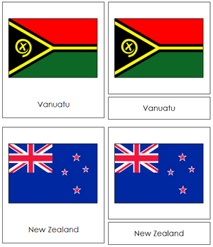 Oceanian Flags - Montessori Print Shop
