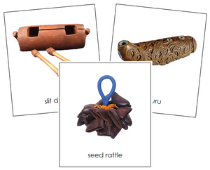 Australian/Oceanian Musical Instruments - Montessori geography cards