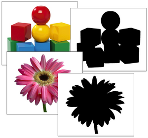 Silhouette Cards: Objects - preschool Montessori cards