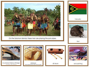 Australia/Oceania Geography Bundle - Montessori geography cards