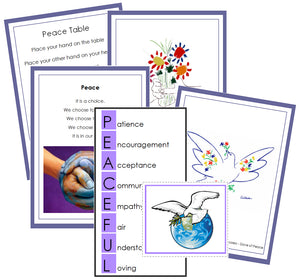 Montessori Peace Table Cards - Montessori Print Shop