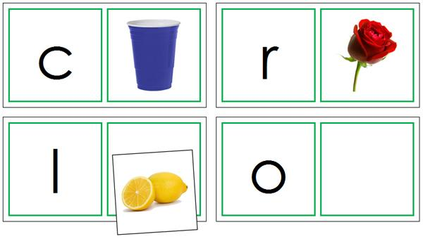 Phonetic Matching Cards Set 3