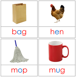 Phonetic Picture Cards - Montessori language cards